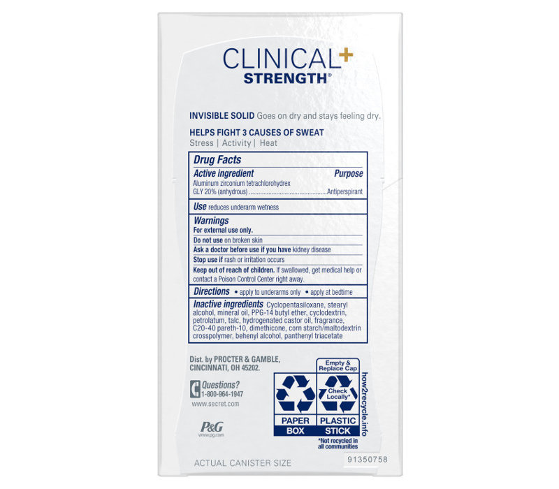 Secret Clinical - Invisible Solid - Stress Response