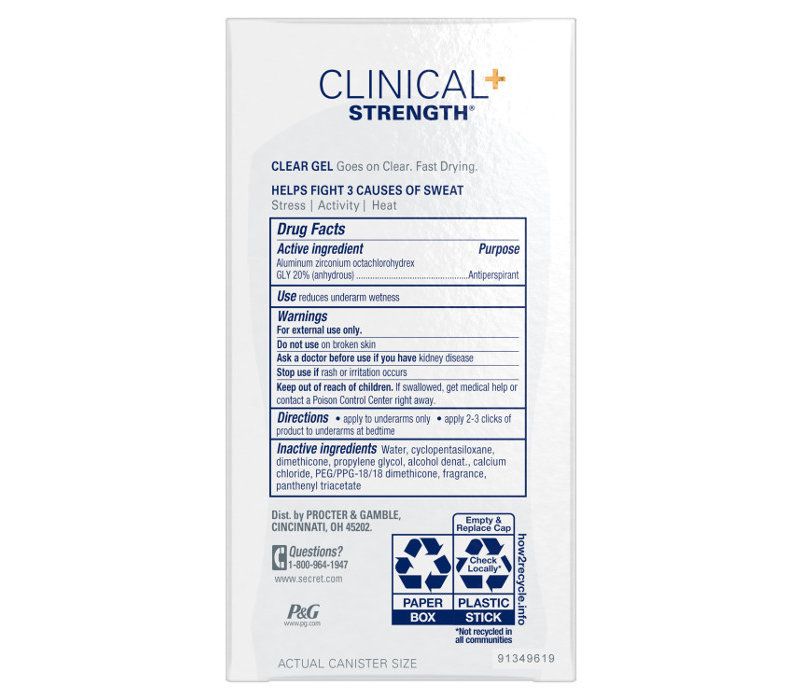 Secret Clinical - Clear Gel - Completely Clean