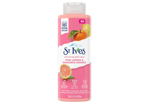 St. Ives Exfoliating Body Wash - Pink Lemon & Mandarin Orange