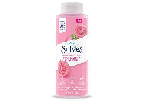 St. Ives Refreshing Body Wash - Rose Water & Aloe Vera