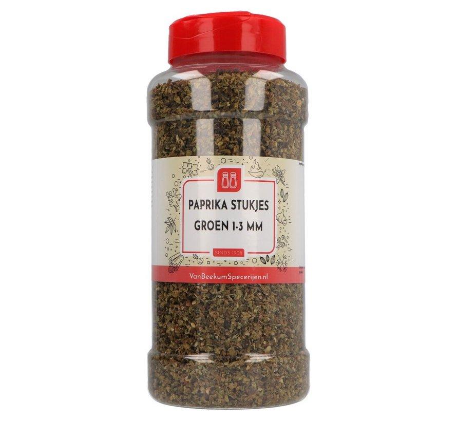 Paprika stukjes groen 1-3 mm