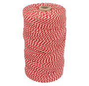 Katoenkoord rood/wit 32 draads
