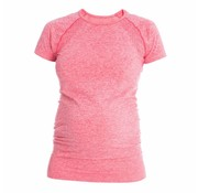 Mom in Balance Active Wear Maternity Sports Shirt Short Sleeve - Pink