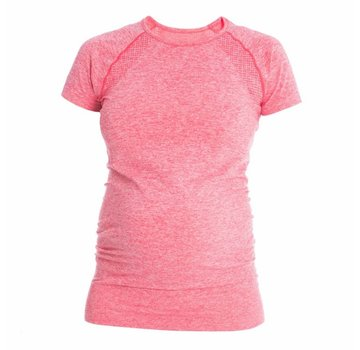 Mom in Balance Active Wear Zwangerschap Sportshirt Korte Mouw - Roze