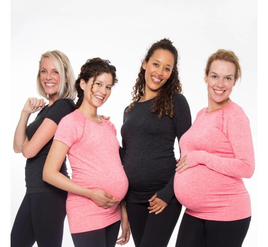 Zwangerschap Sportshirt Lange Mouw - roze