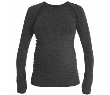 Mom in Balance Active Wear Maternity Sports Shirt Long Sleeve - Grey