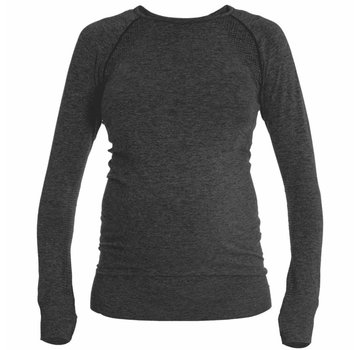 Mom in Balance Active Wear Maternity Sports Shirt Long Sleeve - Grey