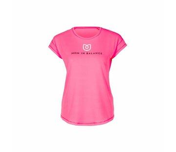 Mom in Balance Active Wear Sportshirt Korte Mouw - Challenge Yourself