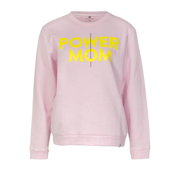 Mom in Balance Power mom sweater roze