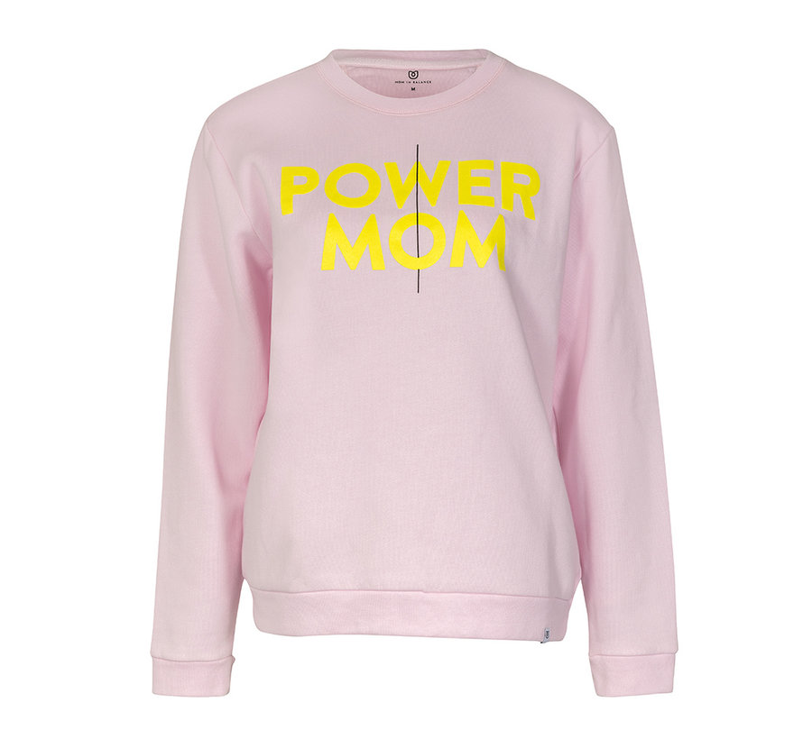 Power mom sweater roze/geel