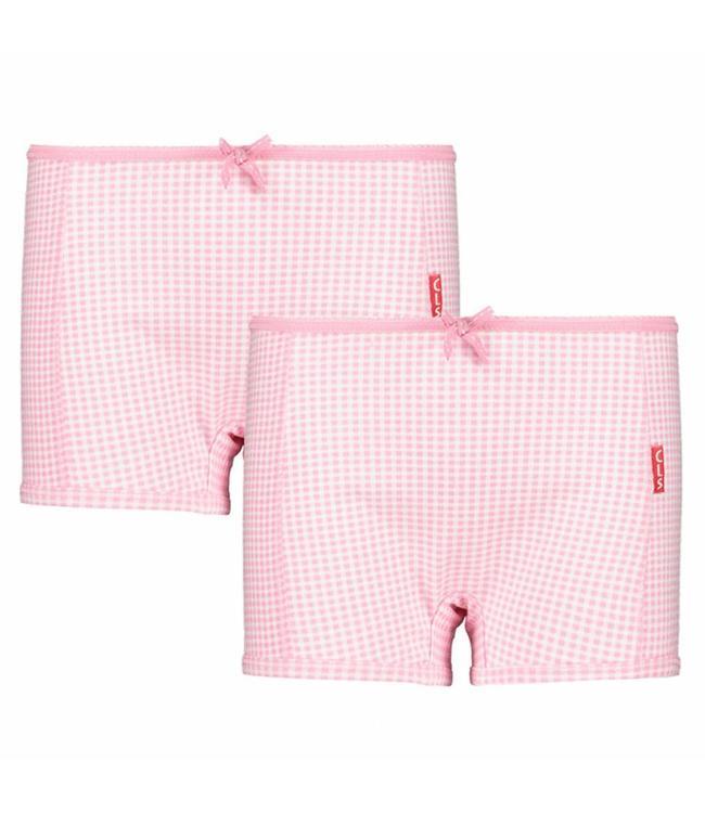 Claesen's Boxertje Pink Checks, 2 -pack
