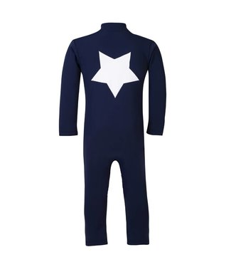 Petit Crabe Swimsuit UV50+ LS Star Navy -