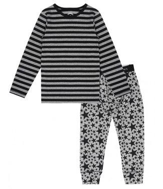 Claesen's Pyjama Grey Star Stripes