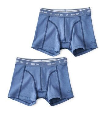 Little Label Boxershort Fades Blue 2-pack