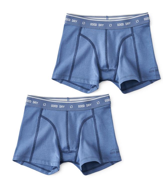 Little Label Boxer trunks faded Blue 2-pack