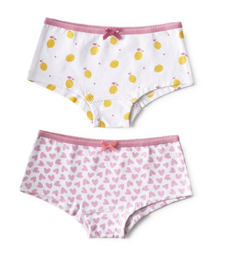 Little Label Cutbriefs Lemons & Hearts 2er Pack