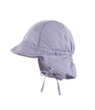 Maximo Sun hat checks Navy