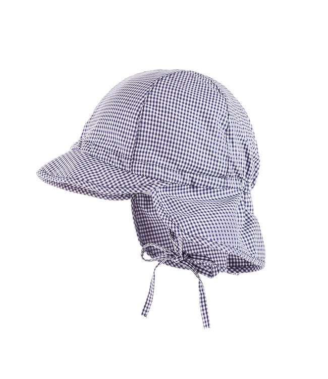 Maximo Sun hat checks Navy