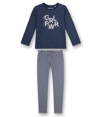 Sanetta Pyjama Blue Striped