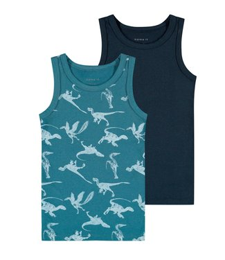 Name it Hemdje Dino Teal 2-pack