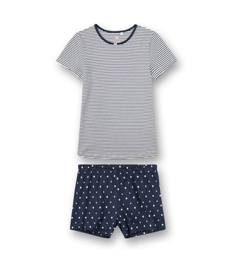 Sanetta Pajamas short Navy Dots