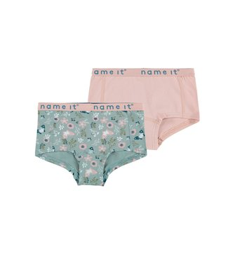 Name it Hipster Pale mauve Flowers 2-pack