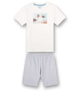 Sanetta Pajamas with short White Pebble