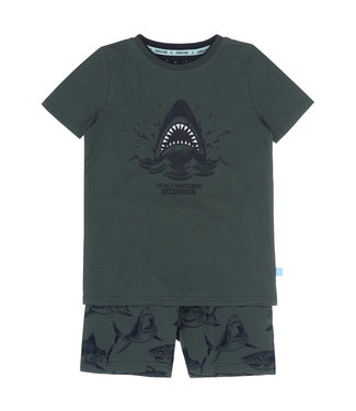 Charlie Choe Pyjama shortje Green Shark