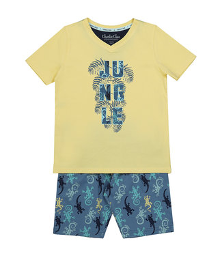 Charlie Choe Pyjama shortje Jungle Yellow