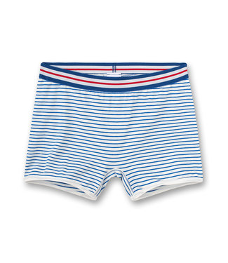 Sanetta Shortje White Blue Striped