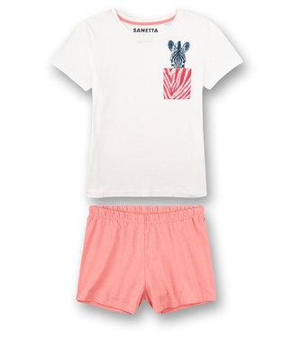 Sanetta Schlafanzug Kurz Zebra Pink Stripe