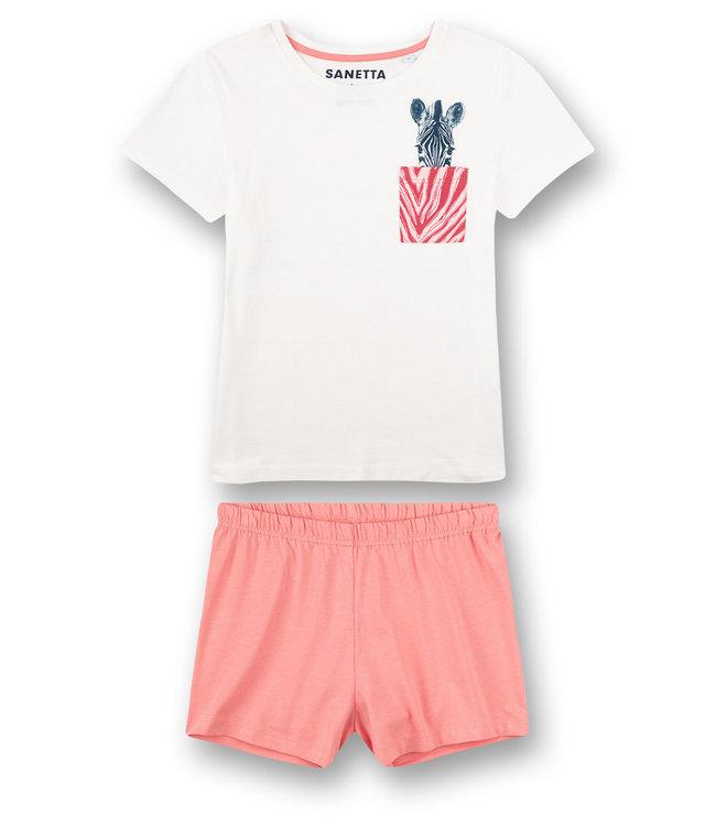 Sanetta Pajamas short Zebra Pink Stripe
