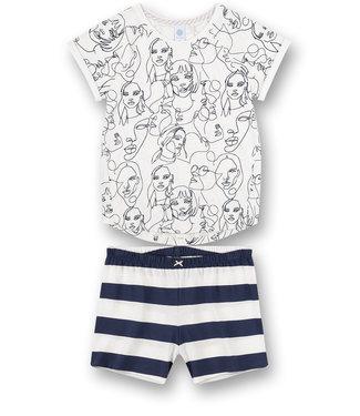 Sanetta Pyjama korte broek Faces