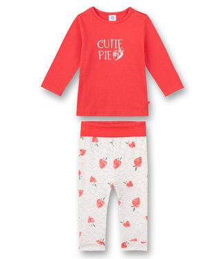 Sanetta Baby-Schlafanzug Strawberry