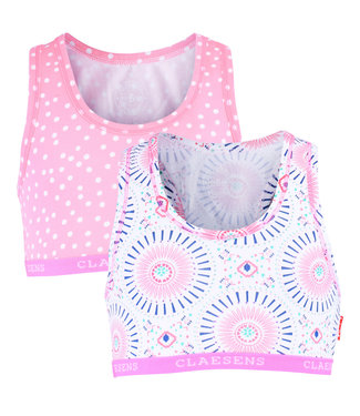 Claesen's Crop top Circle Dots -2-pack