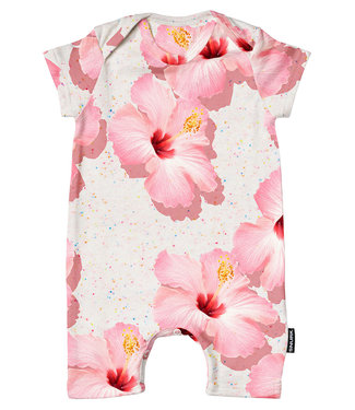 SNURK Playsuit baby Pink Hawaii