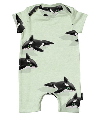 SNURK Playsuit baby Orca Green