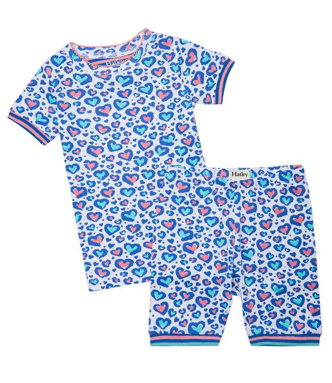 Hatley Pyjama set  short Cheetah Hearts