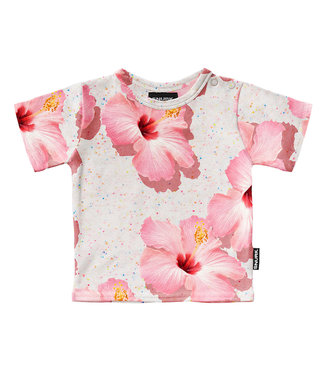 SNURK Baby t-shirt Pink Hawaii