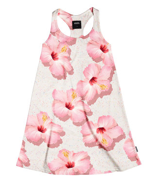 SNURK T-Shirt tank dress dames Pink Hawaii