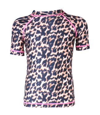 Claesen's Swim shirt Panther Brown Pink