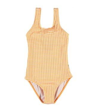 Molo kinderkleding Badeanzug Nika Orange Stripes