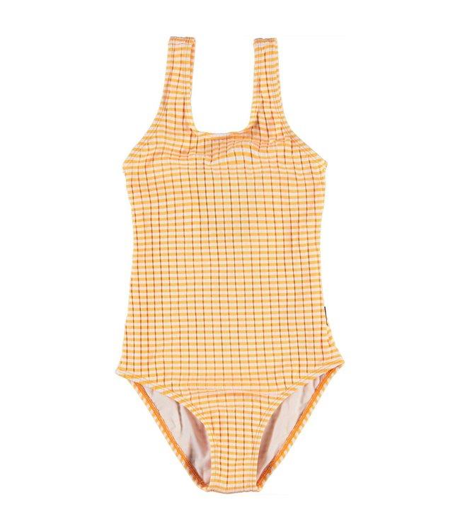 Molo kinderkleding Swim suit Nika Orange Stripes