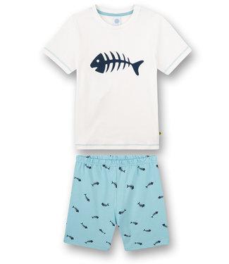 Sanetta Pyjama kurze Hose Fishbone