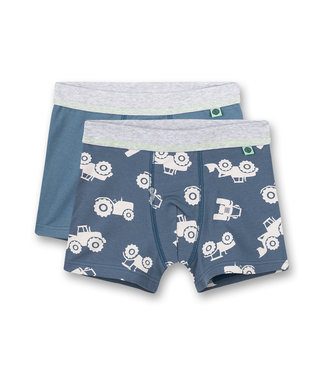 Sanetta Boxershorts Tractor 2-pack