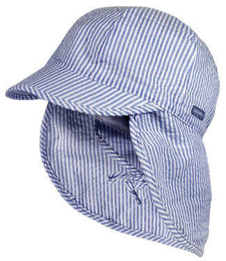 Maximo Sunhat with neck protection Blue Stripe