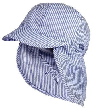 Maximo Zonnehoedje met nekbescherming Blue Stripe