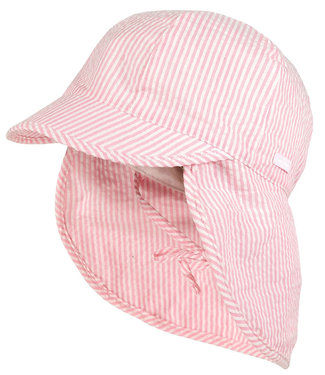 Maximo Sun hat with neck protection Rosebloom Stripe