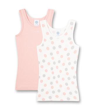 Sanetta Unterhemd Multidots Pink2-pack