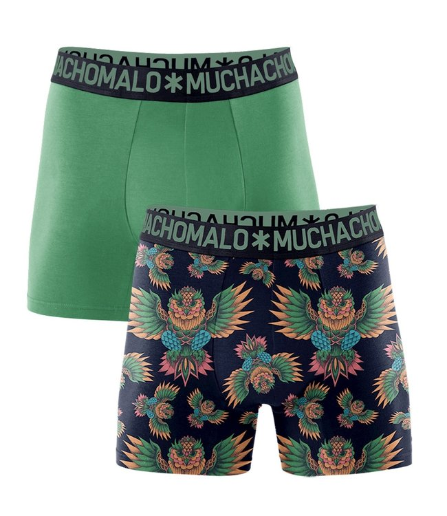 Muchachomalo Boxer shorts bamboo Owl 2-pack